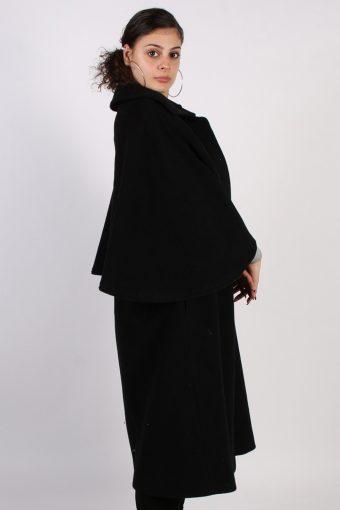 Vintage Other Brands Angel Sleeveless Coat Bust: 45 Black -C631-56931
