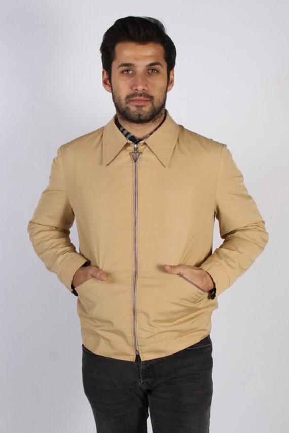 Vintage Kreymborg Mens Casual Smart Coat Jacket M , L Mustard -C693-0