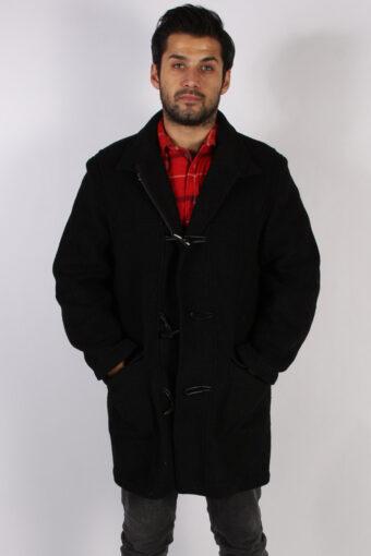 Vintage j. Philipp Retro Duffle Coat Jacket  Chest:46 Black