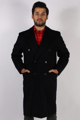 Vintage Genuine Retro Jacket Coat  Chest:45 Black
