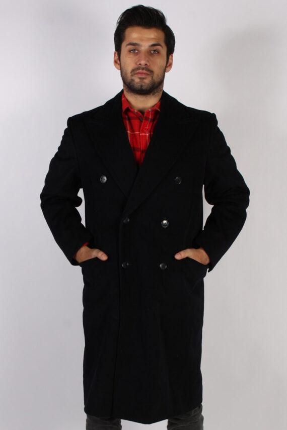 Vintage Genuine Retro Jacket Coat Chest:45 Black -C797-0