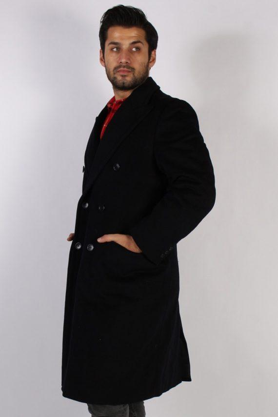 Vintage Genuine Retro Jacket Coat Chest:45 Black -C797-69343