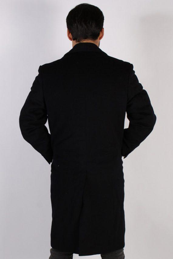 Vintage Genuine Retro Jacket Coat Chest:45 Black -C797-69344