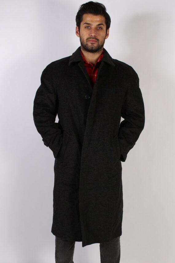 Vintage Berry Adams Italian Jacket Coat Chest:46 Black -C802-0
