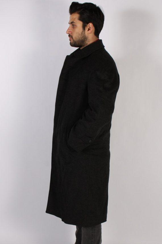 Vintage Berry Adams Italian Jacket Coat Chest:46 Black -C802-69363
