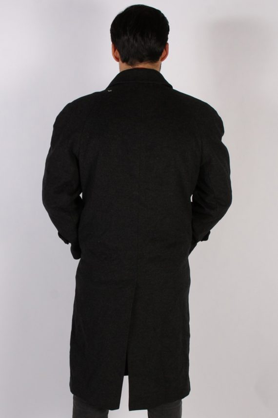 Vintage Berry Adams Italian Jacket Coat Chest:46 Black -C802-69364