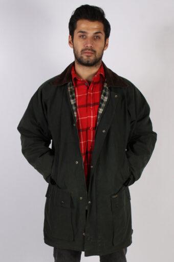 Vintage Oxford Retro Waxed Coat Jacket  Chest:48 Green
