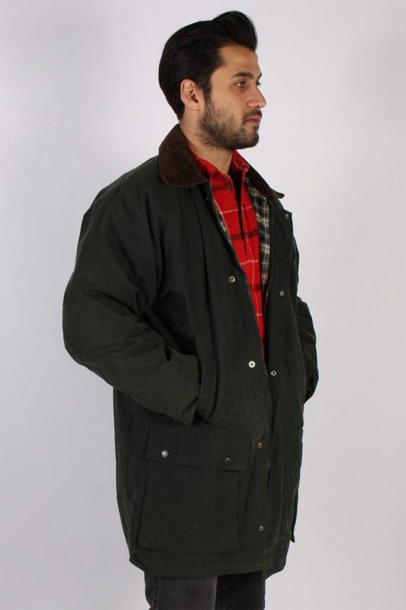 Vintage Oxford Retro Waxed Coat Jacket Chest:48 Green -C813-69407