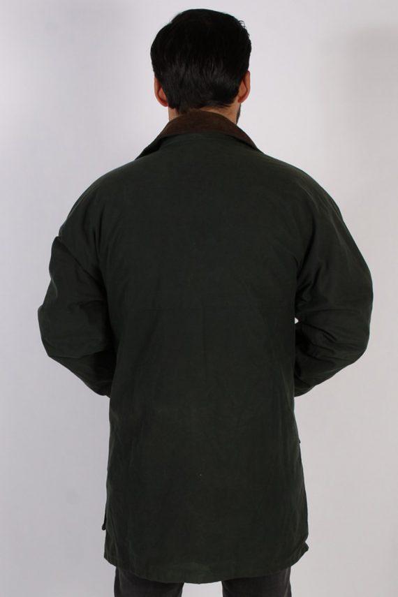 Vintage Oxford Retro Waxed Coat Jacket Chest:48 Green -C813-69408