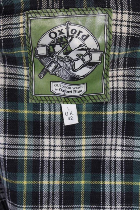 Vintage Oxford Retro Waxed Coat Jacket Chest:48 Green -C813-69409