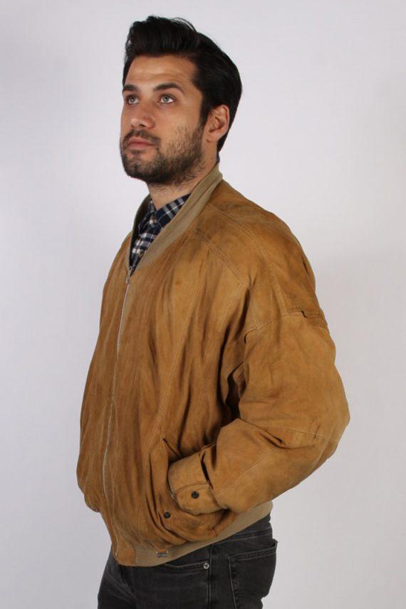 Vintage M. Flues Suede Leather Coat Jacket Chest:52 Brown -C881-69766