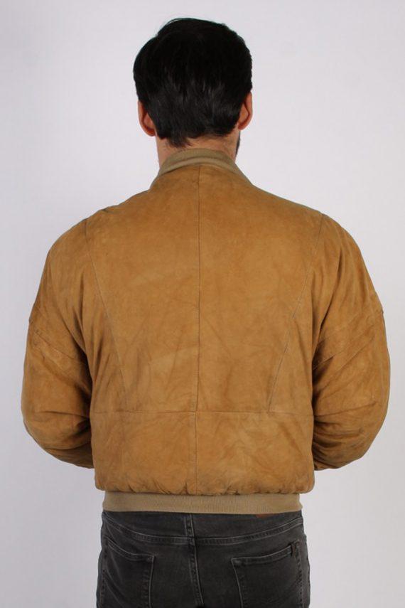 Vintage M. Flues Suede Leather Coat Jacket Chest:52 Brown -C881-69767