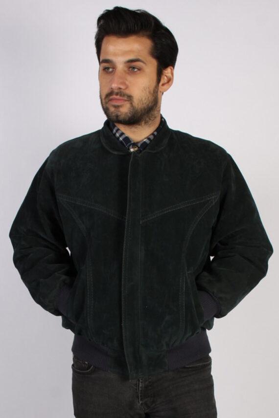 Vintage Ervin Suede Leather Coat Jacket Chest:47 Fume -C902-0