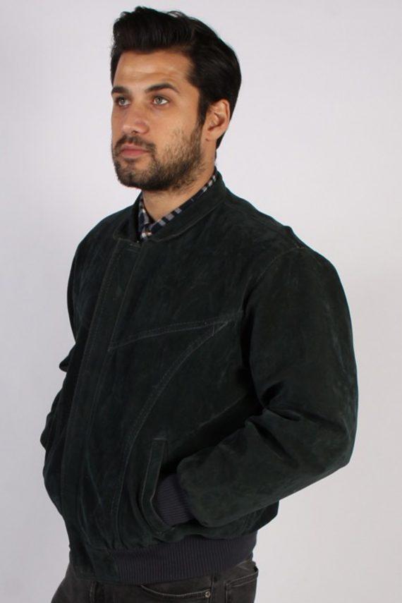 Vintage Ervin Suede Leather Coat Jacket Chest:47 Fume -C902-69850