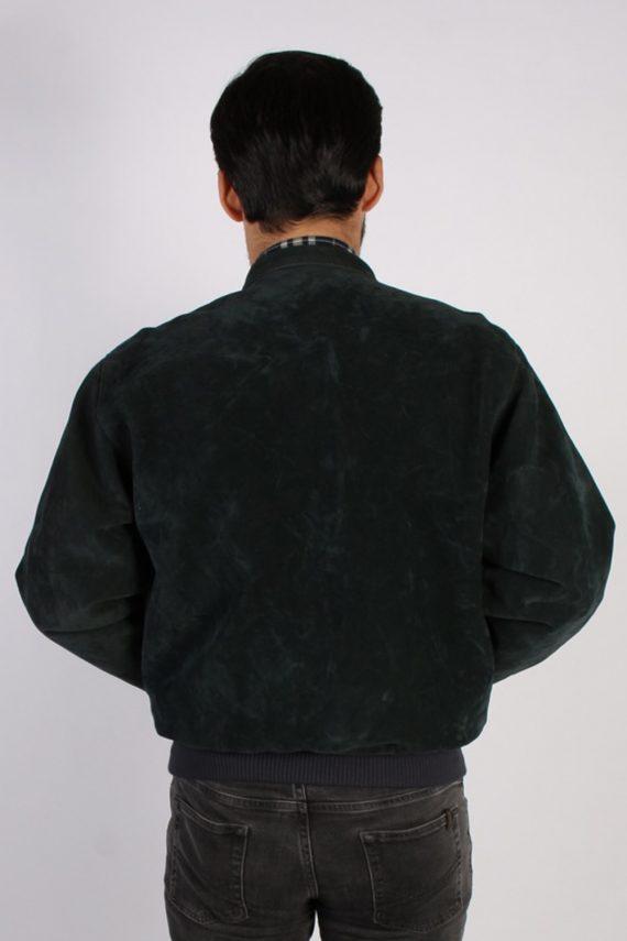 Vintage Ervin Suede Leather Coat Jacket Chest:47 Fume -C902-69851