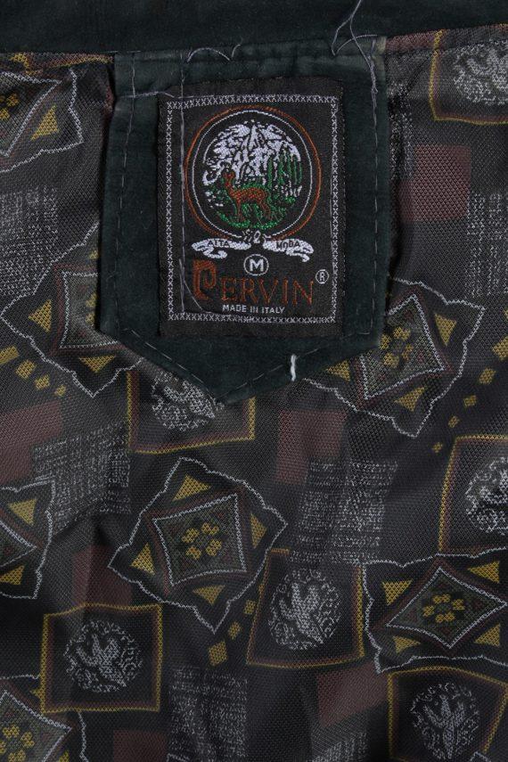 Vintage Ervin Suede Leather Coat Jacket Chest:47 Fume -C902-69852