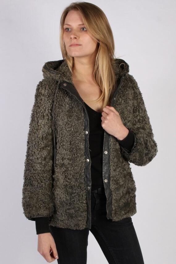 Vintage Ruhl Pelz Real Fur Ladies Coat Jacket Bust:36 Grey -C933-0