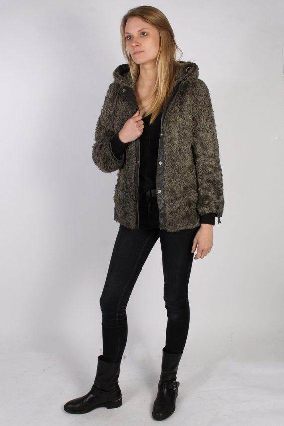 Vintage Ruhl Pelz Real Fur Ladies Coat Jacket Bust:36 Grey -C933-70003