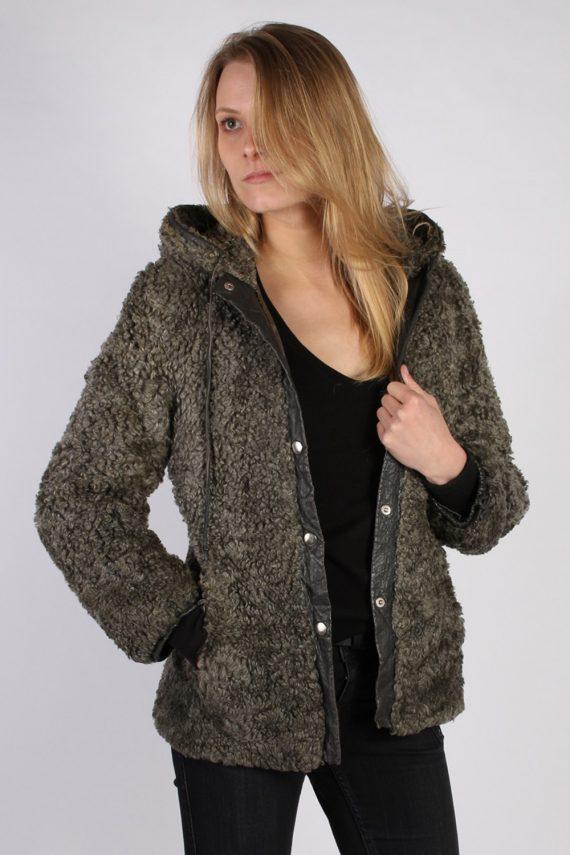 Vintage Ruhl Pelz Real Fur Ladies Coat Jacket Bust:36 Grey -C933-70004
