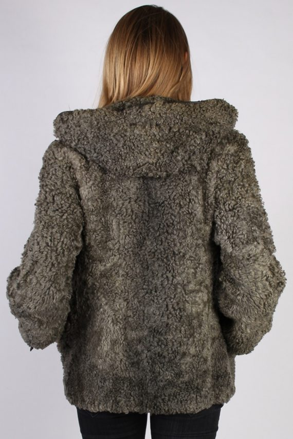 Vintage Ruhl Pelz Real Fur Ladies Coat Jacket Bust:36 Grey -C933-70005