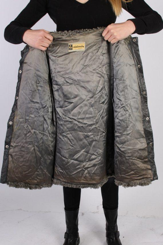Vintage Ruhl Pelz Real Fur Ladies Coat Jacket Bust:36 Grey -C933-70006
