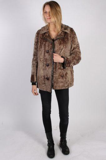 Vintage Ruhl Pelz Real Fur Womens Coat Jacket Bust:44 Beige -C934-70008