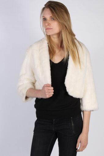 Vintage Sphinx Fun Fur Ladies Coat Jacket  Bust:39 White