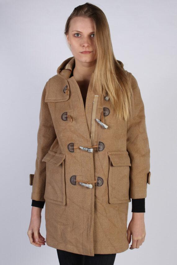 Vintage L'Elephant Rouge Duffle Womens Coat Jacket Bust:40 Beige -C976-0