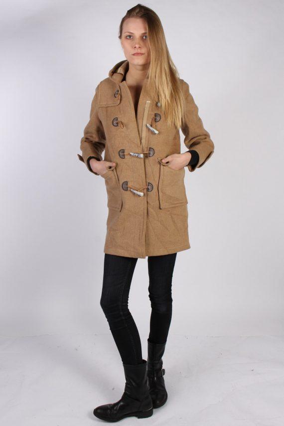 Vintage L'Elephant Rouge Duffle Womens Coat Jacket Bust:40 Beige -C976-70223