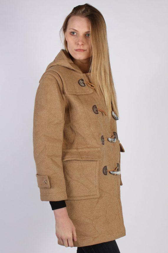 Vintage L'Elephant Rouge Duffle Womens Coat Jacket Bust:40 Beige -C976-70224