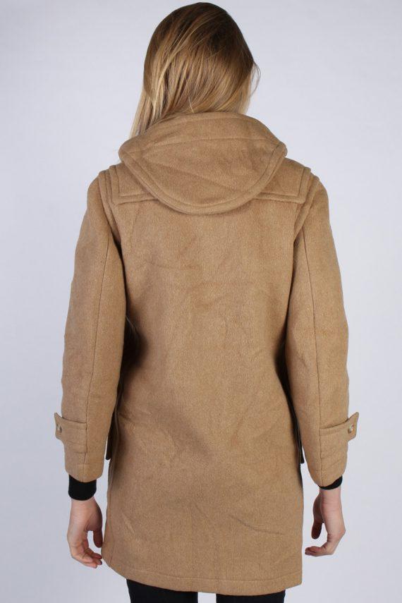 Vintage L'Elephant Rouge Duffle Womens Coat Jacket Bust:40 Beige -C976-70225