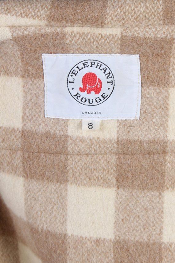 Vintage L'Elephant Rouge Duffle Womens Coat Jacket Bust:40 Beige -C976-70226
