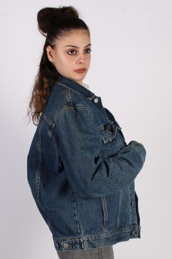 Vintage Guess Ladies Trucker Denim Jacket XL , XXL Navy -DJ1374-57211