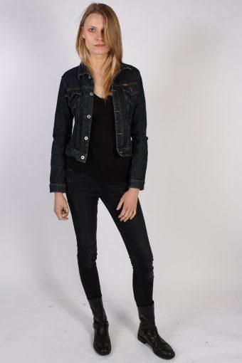 Vintage Diesel Ladies Denim Jacket Bust:36 Navy -DJ1382-70258