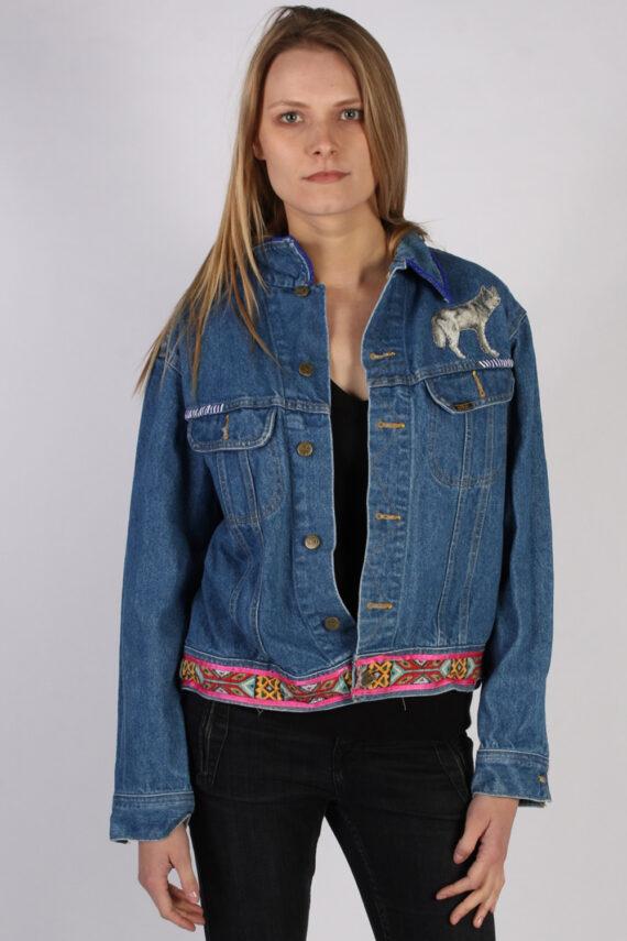 Vintage Lee Ladies Designer Denim Jacket Bust:47 Navy -DJ1386-0