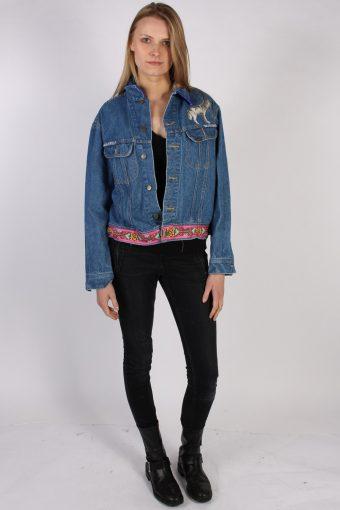 Vintage Lee Ladies Designer Denim Jacket Bust:47 Navy -DJ1386-70278