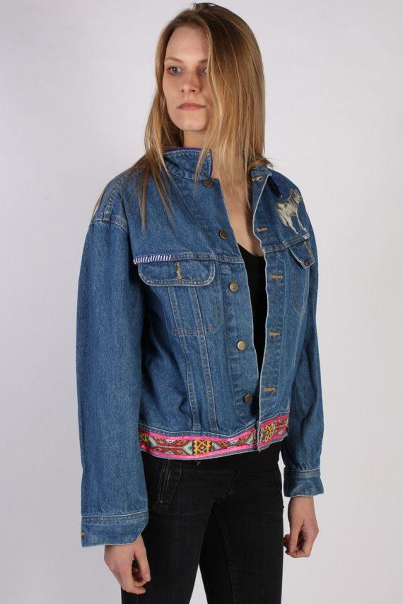 Vintage Lee Ladies Designer Denim Jacket Bust:47 Navy -DJ1386-70279