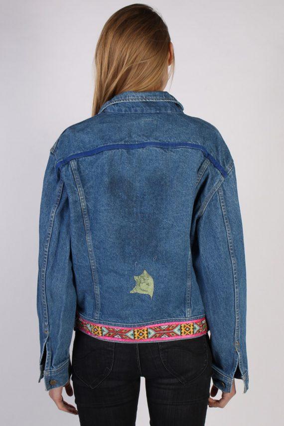 Vintage Lee Ladies Designer Denim Jacket Bust:47 Navy -DJ1386-70280