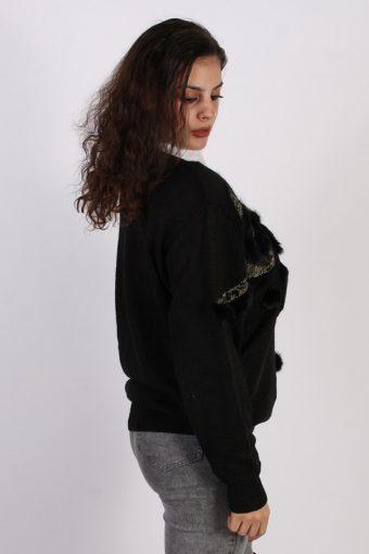 Vintage Passion Angora Designer Jumper L Black -IL1043-56715