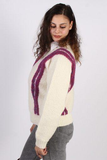 Vintage Winter Design Knit Jumper ML Cream -IL1049-56739