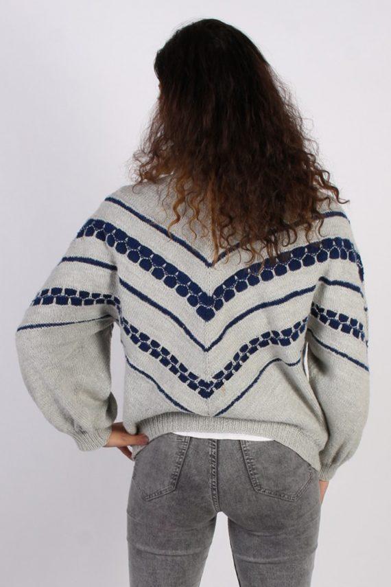 Vintage Winter Snow Knit Jumper N/A Grey -IL1053-56756