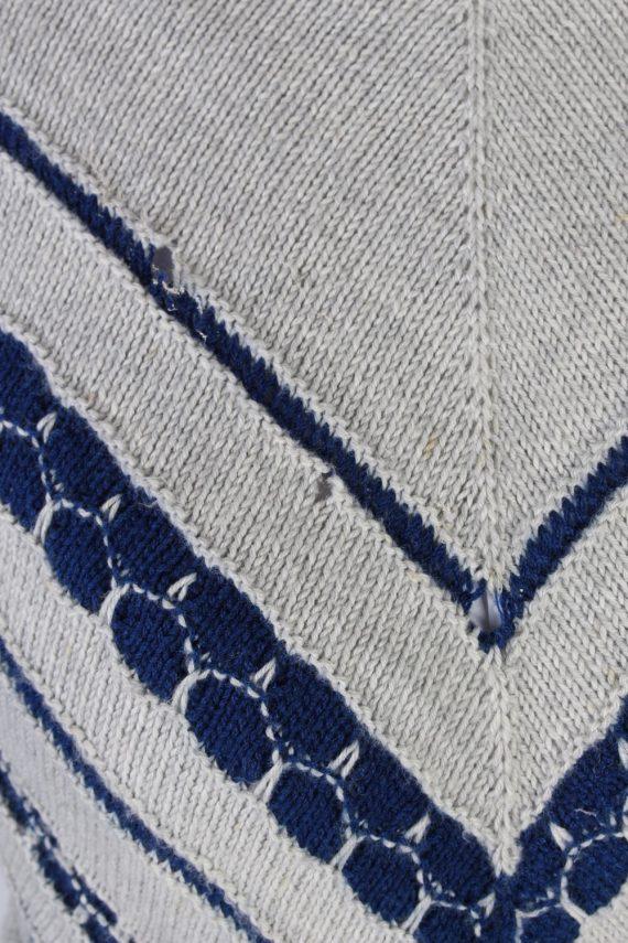 Vintage Winter Snow Knit Jumper N/A Grey -IL1053-56757