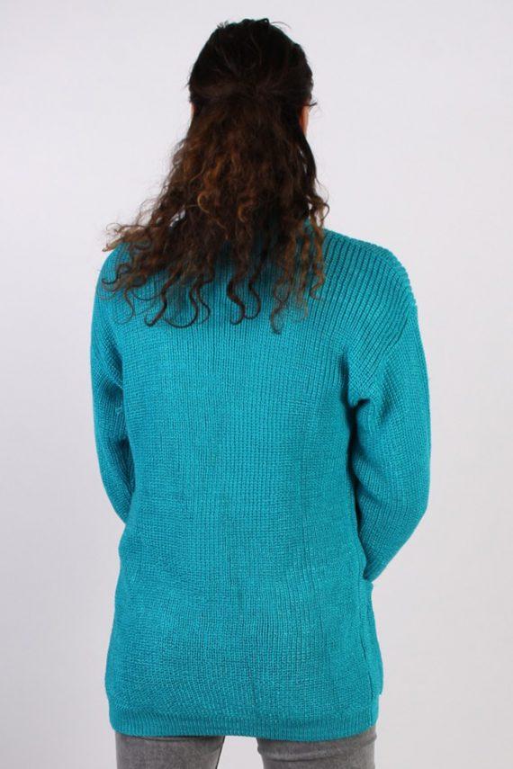Vintage Jean Yves Knit Design Cardigan Jumper M Turquoise -IL1054-56760