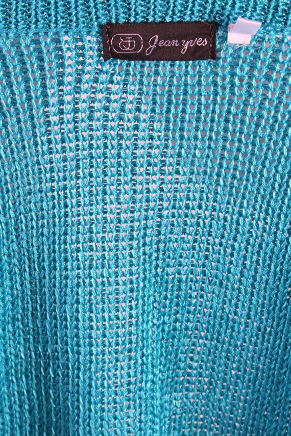 Vintage Jean Yves Knit Design Cardigan Jumper M Turquoise -IL1054-56761