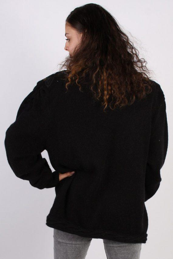 Vintage Winter Designer Edition Cardigan Jumper L Black -IL1057-56772