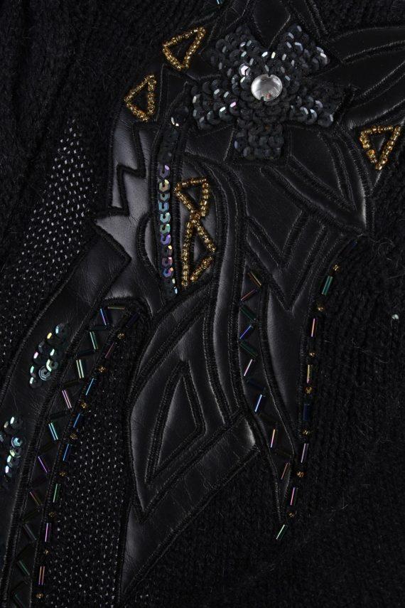 Vintage Winter Designer Edition Cardigan Jumper L Black -IL1057-56773