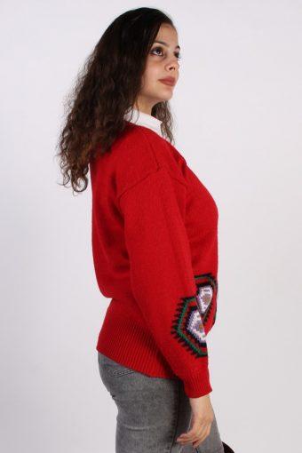 Vintage Toplike 90's Style Jumper M Red -IL1060-56783