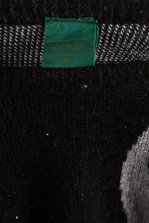 Vintage Canda 90's Style Jumper XL Black -IL1064-56801