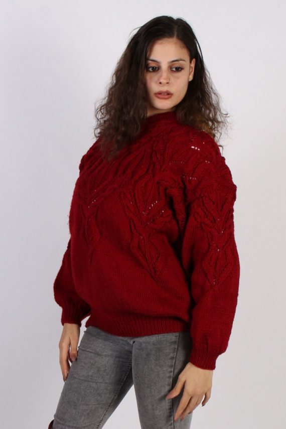 Vintage Winter Cool Knitted Jumper XL Red -IL1066-0