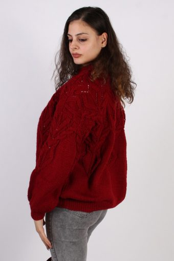 Vintage Winter Cool Knitted Jumper XL Red -IL1066-56807